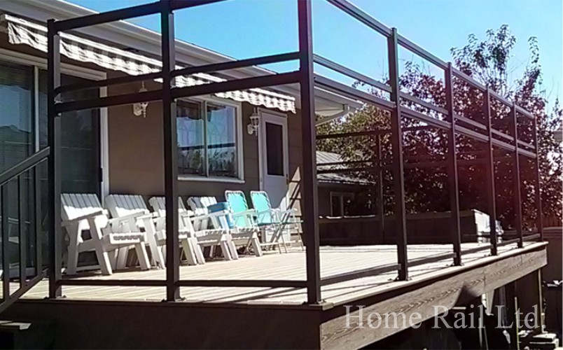 Wind Privacy Walls Aluminum Railing Decking Rail Home Ltd