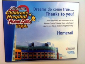 Kinsmen Children's Hospital Home Lotto 2006