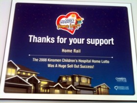 Kinsmen Children's Hospital Home Lotto 2008