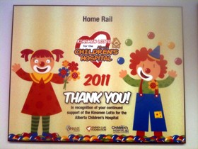 Kinsmen Children's Hospital Home Lotto 2011